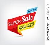 vector banner for super sale | Shutterstock .eps vector #497146120