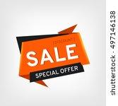sale banner design. sale vector ... | Shutterstock .eps vector #497146138
