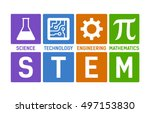 stem   science  technology ... | Shutterstock .eps vector #497153830