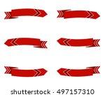 set of arrow stickers. vector... | Shutterstock .eps vector #497157310