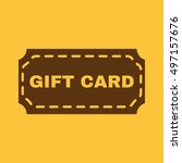 the gift card icon. coupon and... | Shutterstock . vector #497157676