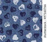 vector valentine background.... | Shutterstock .eps vector #497160766