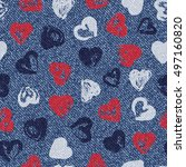 vector valentine background.... | Shutterstock .eps vector #497160820