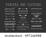 line borders  text dividers and ... | Shutterstock .eps vector #497166988