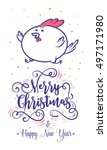 happy new year and merry... | Shutterstock .eps vector #497171980