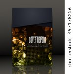 template design for cover.... | Shutterstock .eps vector #497178256