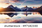 panoramic view of the mt.... | Shutterstock . vector #497182330