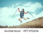 hiking and leisure theme.... | Shutterstock . vector #497192656