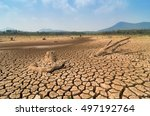 global warming  drought in the... | Shutterstock . vector #497192764