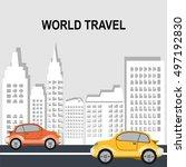 travel illustration design... | Shutterstock .eps vector #497192830