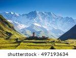View Of The Ushguli Village At...