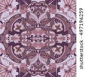tracery seamless calming... | Shutterstock .eps vector #497196259