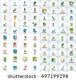 logo mega collection  abstract... | Shutterstock .eps vector #497199298