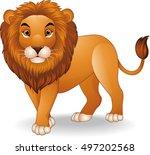 cartoon lion | Shutterstock . vector #497202568