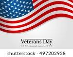 veterans day. honoring all who... | Shutterstock .eps vector #497202928