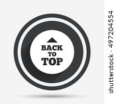 back to top arrow sign icon.... | Shutterstock .eps vector #497204554