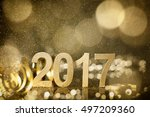 new year decoration closeup on... | Shutterstock . vector #497209360