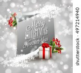 merry christmas and happy new... | Shutterstock .eps vector #497214940