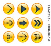 set of yellow signs arrows....