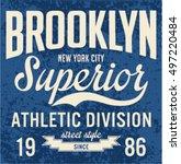 college new york typography  t... | Shutterstock .eps vector #497220484