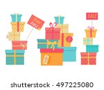 price fall sale concept set.... | Shutterstock .eps vector #497225080