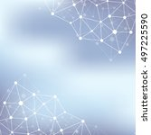 structure molecule atom dna and ... | Shutterstock . vector #497225590