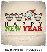 new year greeting card with... | Shutterstock .eps vector #497226184