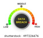 data breach button position.... | Shutterstock . vector #497226676