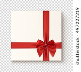 realistic gift icon on... | Shutterstock .eps vector #497227219