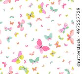 colorful seamless background... | Shutterstock .eps vector #497227729