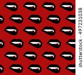 texture of black lips with... | Shutterstock .eps vector #497231038
