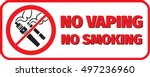 no vaping no smoking placard... | Shutterstock .eps vector #497236960