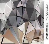 randomly scattered triangles of ... | Shutterstock .eps vector #497239660