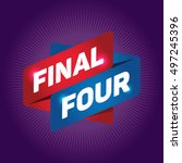 final four arrow tag sign. | Shutterstock .eps vector #497245396