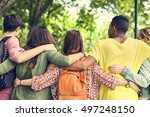 education students people... | Shutterstock . vector #497248150