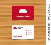 business card template.... | Shutterstock .eps vector #497249710