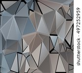 randomly scattered triangles of ... | Shutterstock .eps vector #497252959