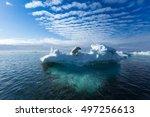 A Polar Bear Sitting On The...