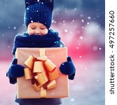 focus on gift box. adorable...   Shutterstock . vector #497257660
