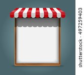 white frame with red awning   Shutterstock .eps vector #497259403