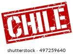 chile. grunge vintage chile... | Shutterstock .eps vector #497259640