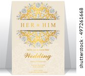 indian wedding invitation or... | Shutterstock .eps vector #497261668