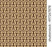 geometric pattern with golden... | Shutterstock . vector #497267878