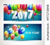 new year 2017   vector set of... | Shutterstock .eps vector #497273848
