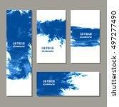blue art brush paint template