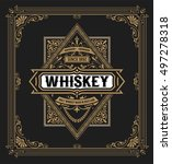 western label for whiskey or... | Shutterstock .eps vector #497278318