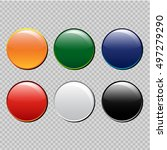 set of multi colored buttons as ... | Shutterstock .eps vector #497279290