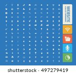website icon set vector | Shutterstock .eps vector #497279419