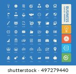 business and office icon set... | Shutterstock .eps vector #497279440