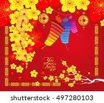 happy chinese new year 2017...   Shutterstock . vector #497280103